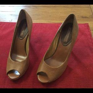 Banana Republic Peep Toe Leather Heels